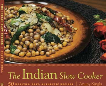 The Indian Slow Cooker by Anupy Singla is a book about cooking traditional Indian food in the slow cooker, ranging from rajmah to chicken curries.