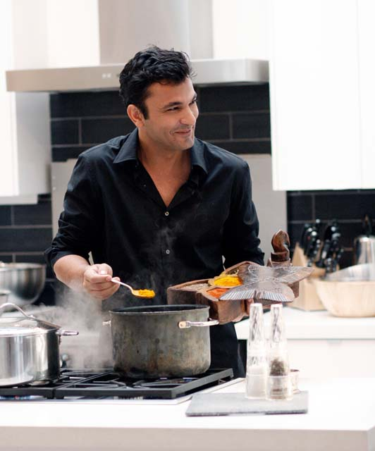 Vikas Khanna of Junoon Restaurant has been chosen as New York's hottest chef by Eater