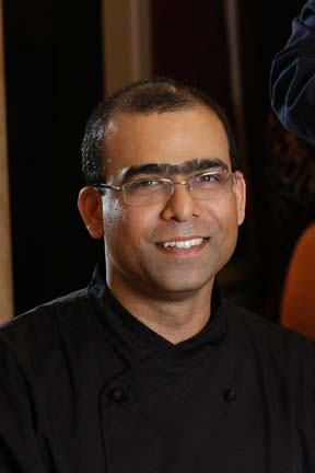 Chef Santosh Tiptur of Co Co Sala, a chocolate lounge and restaurant in Washington DC