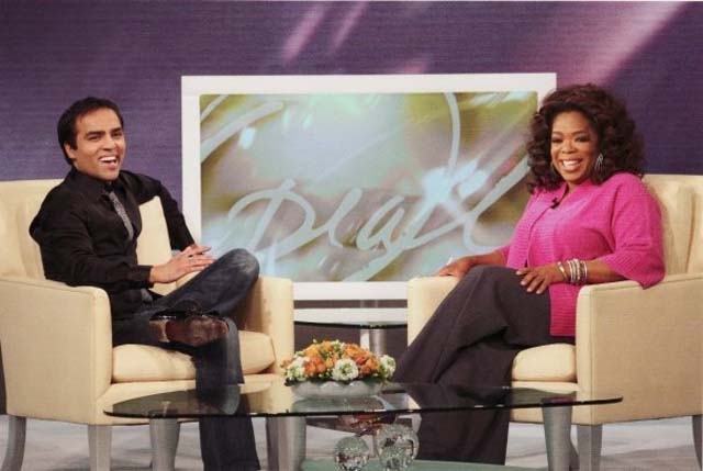 Gurbaksh Chahal with Oprah Winfrey on the Oprah! show
