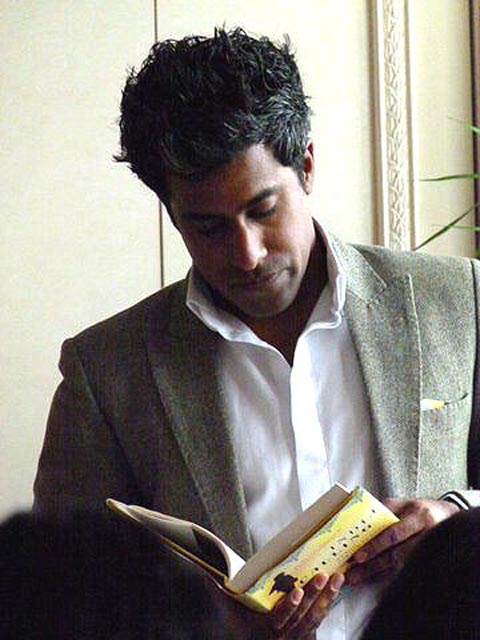 Anand Giridharadas reads from India Calling at a SAYA benefit