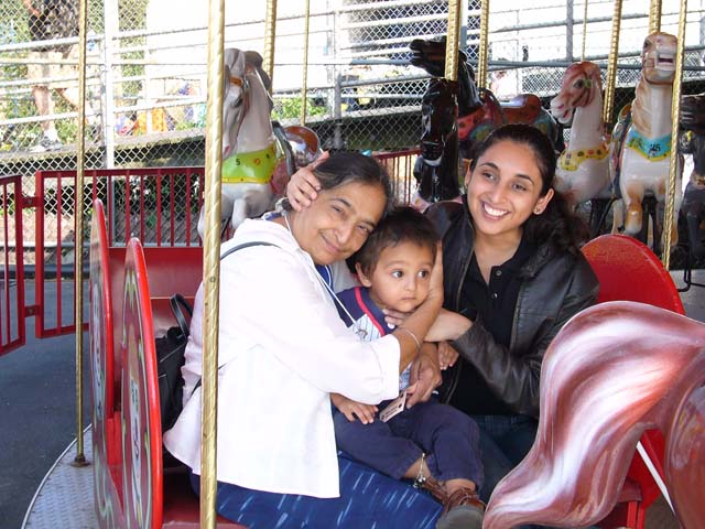 Jasmin Sethi with her mother and nephew Ishaan