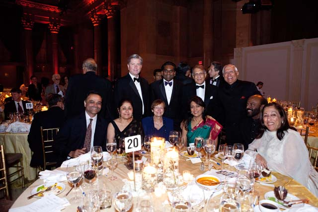America India Foundation - AIF's Spring Gala which raised funding for projects in India -Shiv and Kiran Nadar, Suri Sehgal, Chairman IRRD, Diaz Nesamoney President and CEO Jivox Corp, Lata Krishnan AIF Vice Chair, Ajay Shah Founding Managing Director, Silverlake Sumeru Fund