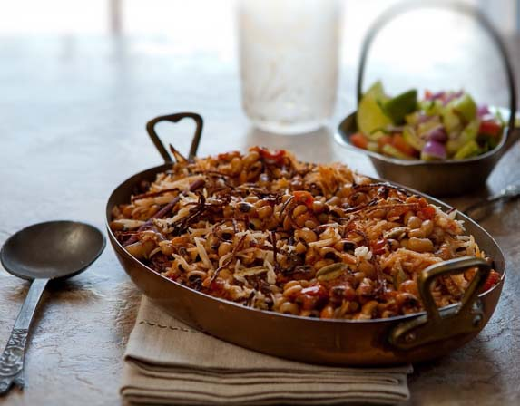 Lobhiya Pulao - Black-eyed peas and rice - from Hari Nayak's 'My Indian Kitchen'