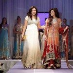 Deeba Haider of Rani Emaan with Ayesha Gilani, Miss Pakistan World at the Fashion for Compassion event by SAYWEE