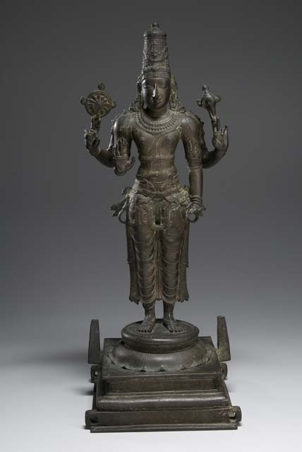 Standing Vishnu from the exhibit Vishnu, Hinduism's Blue-Skinned Savior at the Brooklyn Museum