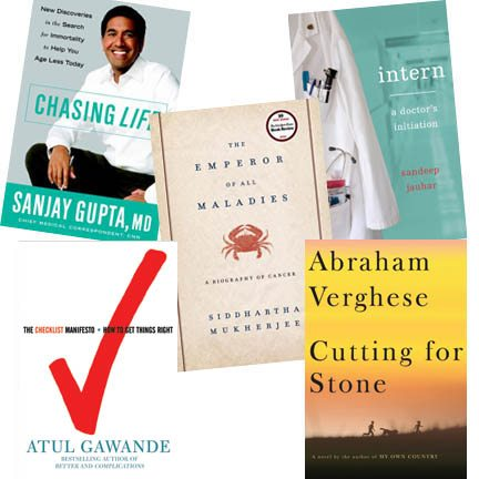 Drs. Abraham Verghese, Siddhartha Mukherjee, Atul Gawande, Sanjay Gupta and Sandeep Jauhar are physicians who also write.
