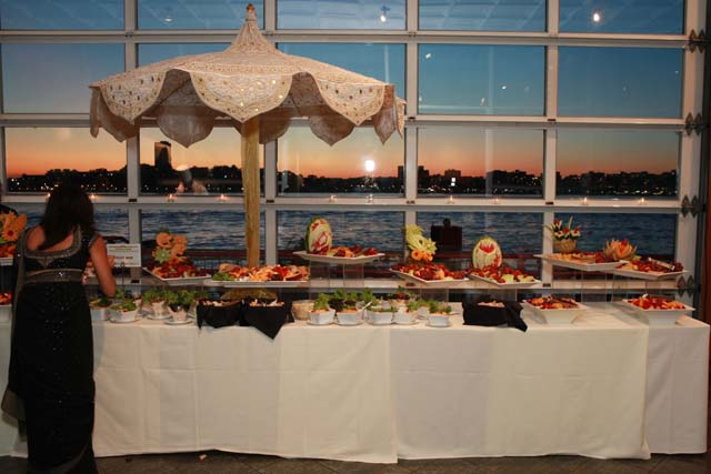 Sunset over the Hudson River as seen by guests at the Royal India Gala organized by Children's Hope India