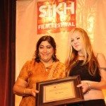 Sikh International Film FestivalGurinder Chadha gives one of the two Best Documentary Awards to Agatha Maciaszek, the co-director of The Ulysses