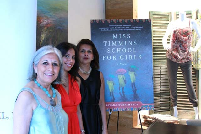 'Miss Timmins' School for Girls' by Nayana Currimbhoy is a murder mystery story set in Panchgani in India. Nayana Currimbhoy with Aroon and Misha Shivdasani