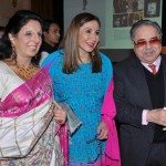 Meera Gandhi with Sweety and Vivek Burman