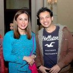 Meera Gandhi with Jamail Shaikh at the Giving back book launch