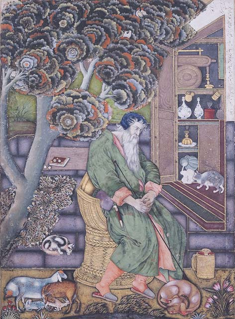 Farrukh Beg - A Sufi Sage, After the European Personification of Melancholia