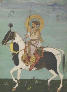 Payag and Mir' Ali - Shah Jahan Riding Stallion, from the Kevorkian Album Wonder of the Age - Master Painters of India at the Metropolitan Museum of Art in New York
