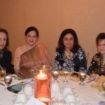At the Indian American Forum celebration of women, Dina Pahlajani, Kavita Lund, Smiti Khanna and Lavina Melwani