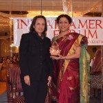 At Indian American Forum's celebration of women's History month, Dina Pahlajani and Satya Pradeep