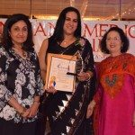 At Indian American Forum's celebration of women's History month, Smiti Khanna, Manmeet Lamba and Indu Jaiswal