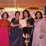 Celebrating women at Indian American Forum - Indu Jaiswal, Suman Munjal, Sangeet Sharma and Vandana Govil