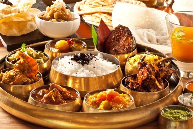 Zambar in Ambiance Mall, New Delhi,  serves Southern coastal cuisine. Here is the seafood thali