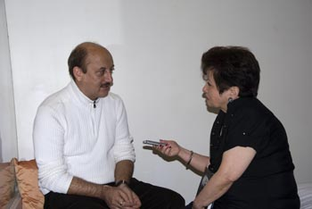 Anupam Kher at the book launch of The Best Thing About You is You!' with journalist Lavina Melwani