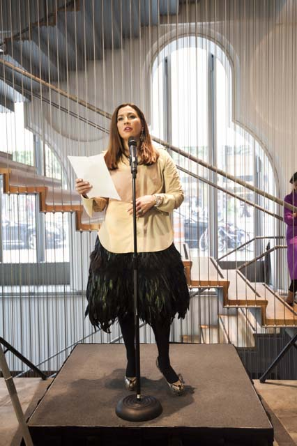 Meera Gandhi, founder of Giving Back Foundation, had a book launch at the Museum of Art & Design in New York