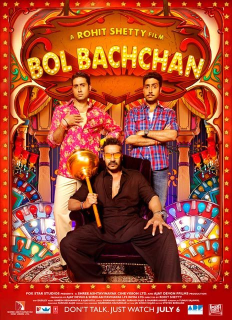 Bol Bachchan stars Ajay Devgn and Abhishek Bachchan and is from Rohit Shetty of Golmaal and Singham fame.