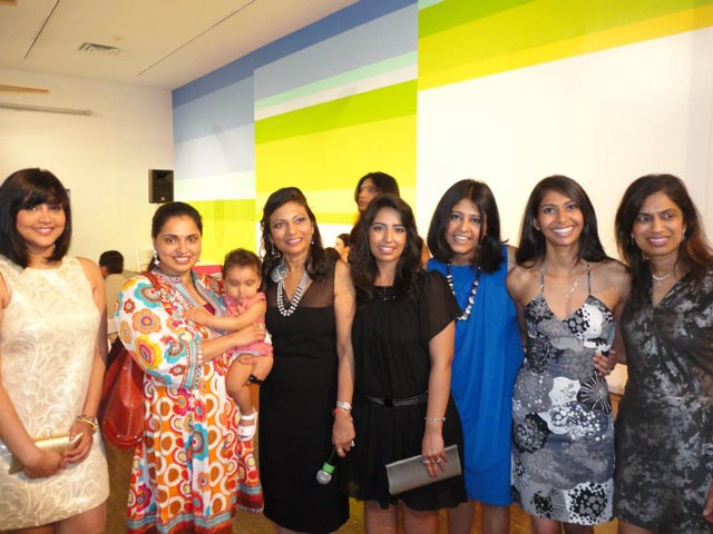 Celebrity chef Maneet Chauhan( and baby) with the Wishwas team. Wishwas is a non-profit group helping South Asian women immigrants with vocational training and jobs.