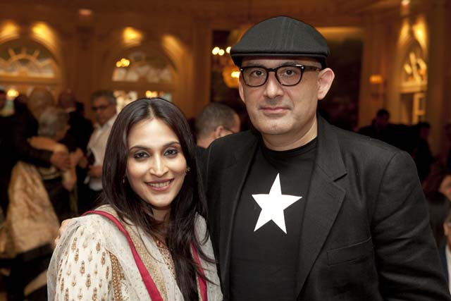 Aishwariya Rajnikant Dhanush with Dev Benegal at the 2012 New York Indian Film Festival