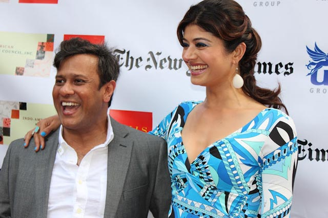Bedabrata Pain and Pooja Batra at 2012 NYIFF opening of 'Chittagong'