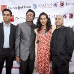 NY actors Manu Narayan, Samrat Chakrabarti, Sarita Choudhury and Ajay Naidu at the NYIFF