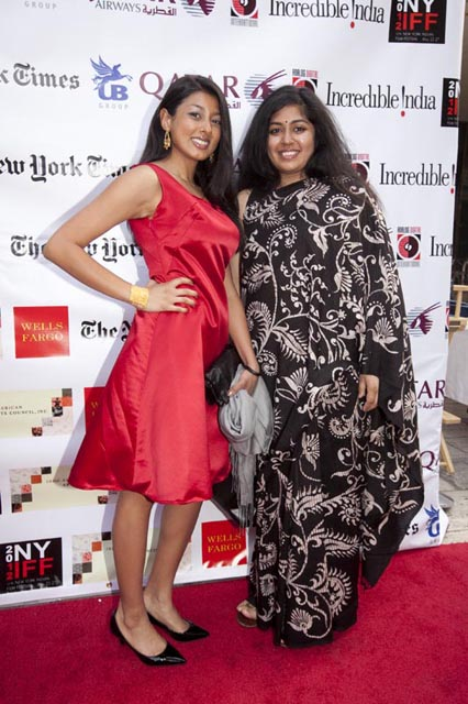 Lipica Shah and Bornila Chatterjee at NYIFF 2012. Their film 'Let's be out, the sun is shining' won the Audience Choice Award