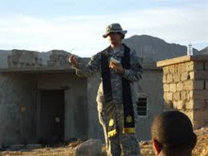 Pratima Dharm is the first Hindu chaplain in the US Army and has served in Iraq