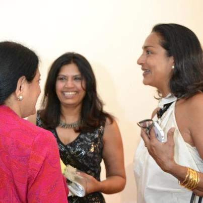 Designer Ranjana Khan at Wishwasa non-profit group for South Asian immigrant women, which she supports.