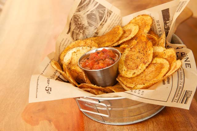 Matt & Meera Masala Chips by Chef Hari Nayak at his new cafe in Hoboken NJ
