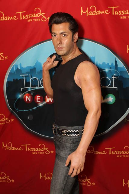 The Salman Khan waxwork which was unveiled in New York