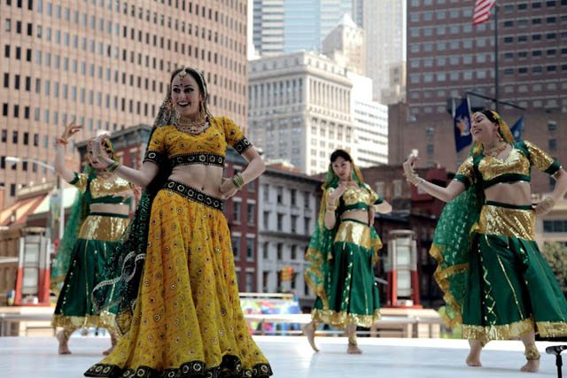Mayuri Dance Group from Russia at the Erasing Borders Festival of Indian Dance at the Downtown Dance Festival