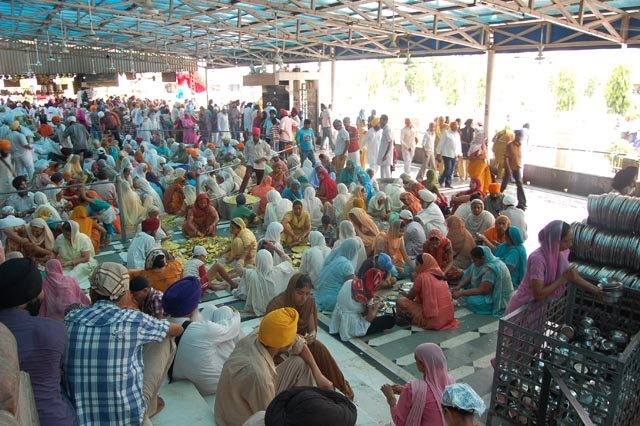 Langar or communal meal is a powerful part of community service in the Sikh faith