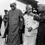Homai Vyarawalla, Indian (1913 – 2012) Ho Chi Minh, President of North Vietnam being escorted by Pandit Nehru and Dr. Rajendra Prasad; 1958 Gelatin Silver Print Alkazi Collection of Photography