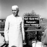 Jawaharlal Nehru caught by the camera at Palam airport while waiting for his sister, Vijayalakshmi Pandit, the Indian Ambassador in Moscow, 1954 gelatin silver print Alkazi Collection of Photography