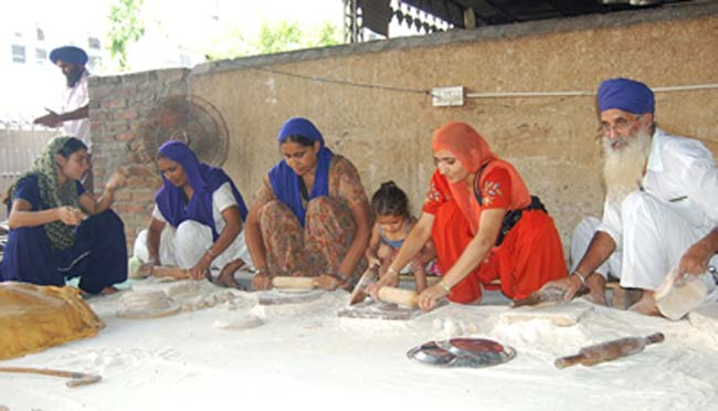 Langar or communal meal, an important component of Sikhism