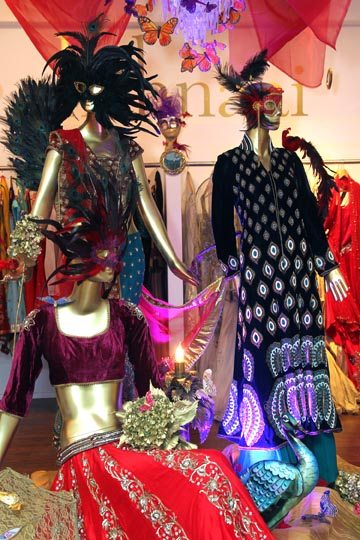 Fashion installation by Mariusz Podkalicki at Fashion's Night Out bash at Shehnaai