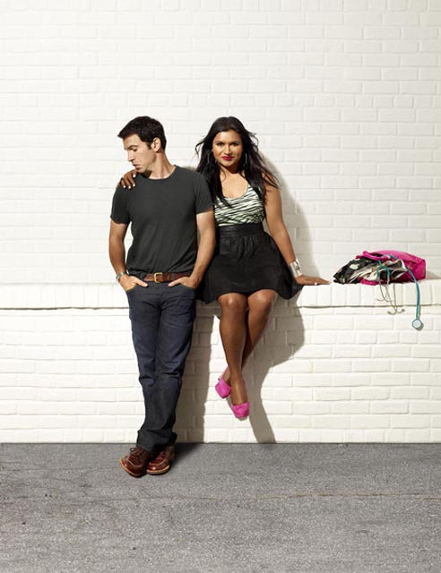 THE MINDY PROJECT -- Season: 1 -- Pictured: (l-r) Chris Messina as Danny, Mindy Kaling as Dr. Mindy Lahiri -- (Photo by: Mary Ellen Matthews/NBC)
