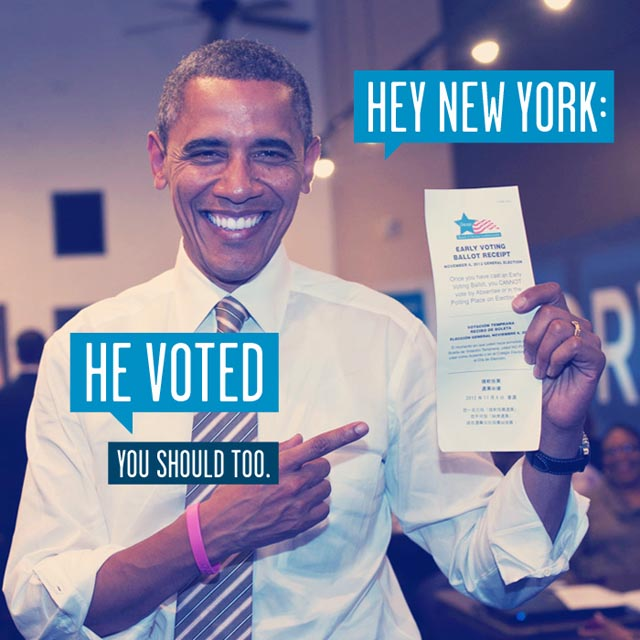 November 6 is Election Day - get out and vote.