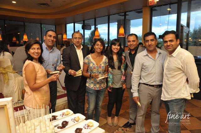 Varli Singh (c) with judges and guests at the live competition for Best Desserts & Pastry
