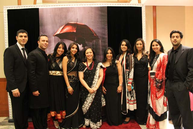 Members of CH2 with Lotus Award winner Swati Piramal at CHI Black & White Gala