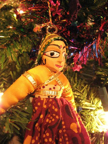 An Indian ornament on the Christmas tree
