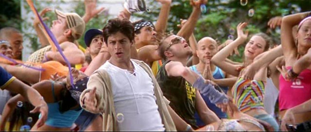 Shah Rukh Khan in 'Kal Ho Na Ho' - Bollywood location shooting in the US