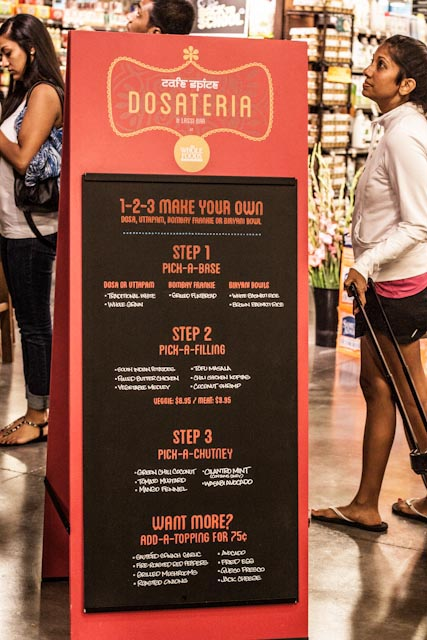Make your own dosas at the Dosateria & Lassi Bar by selecting the base and fillings