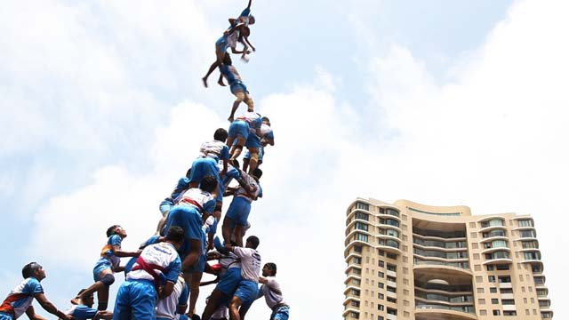 'Human Tower' at the Margaret Mead Festival at the American Museum of Natural History