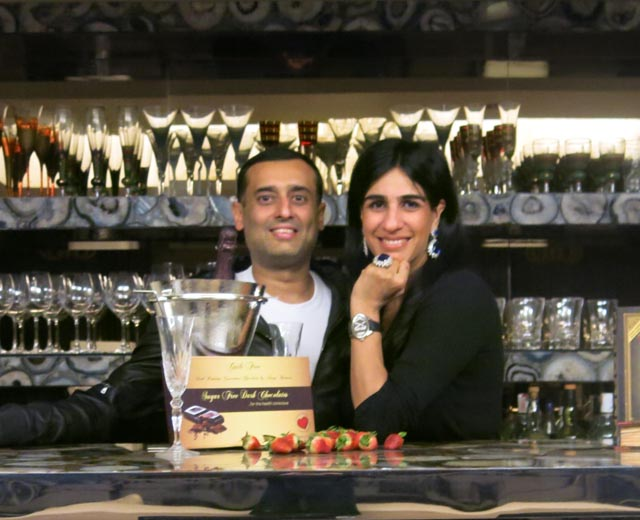 On Valentine's Day interviews with choolatiers & pastry chefs. Here Divya Burman, creator of Guilt-free Chocolates with her husaband Amit Burman